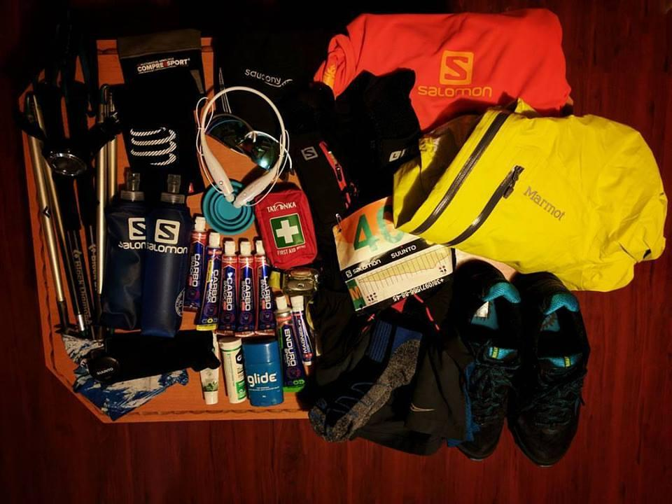 Essentials for trail run