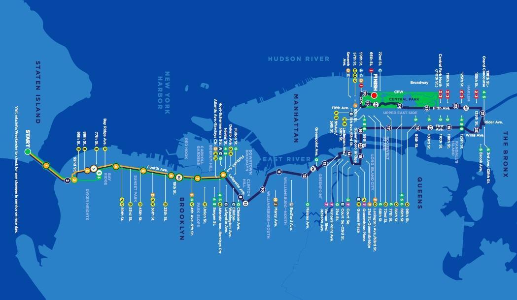 Map Of New York Marathon 2017.Tcs New York City Marathon New York City New York Nov 05 2018